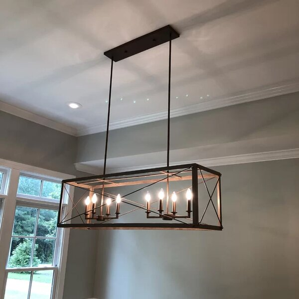 Tiedeman 8 - Light Candle Style Square / Rectangle Chandelier by Gracie Oaks Gracie Oaks