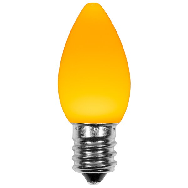 120W E12 Dimmable Candle Light Bulb Orange (Set of 25) by Wintergreen Lighting