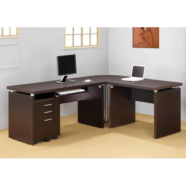 2 Piece L-Shape Desk Office Suite by Latitude Run
