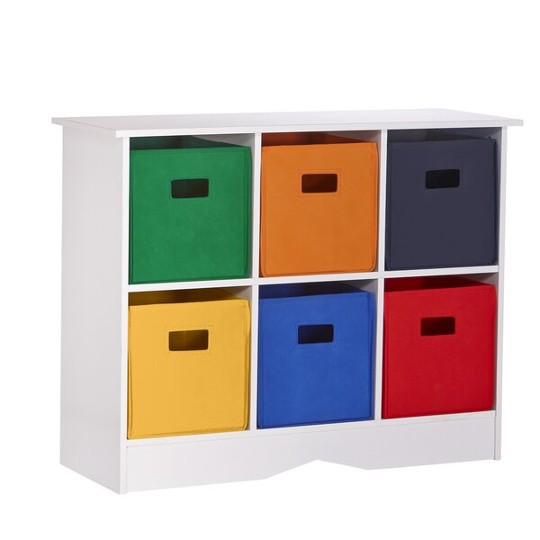 RiverRidge 6 Compartment Cubby for Kids by RiverRi