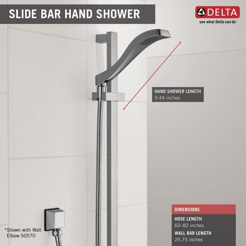 Delta Dryden Full Slide Bar Shower Head & Reviews | Wayfair
