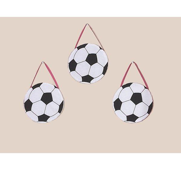 3 Piece Soccer Pink Wall Hanging Set by Sweet Jojo Designs