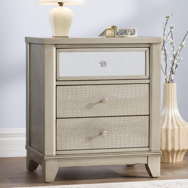Zadok 3 Drawer Nightstand by Willa Arlo Interiors