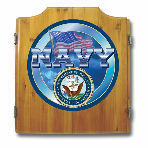 US Navy Dart Cabinet Set by Trademark Global