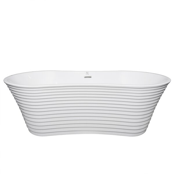 Akdy 67 x 34 Overflow Free Standing Soaking Bathtub by AKDY
