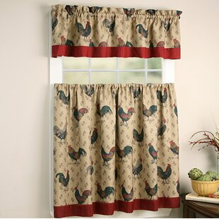 Favorite Rooster Kitchen Curtains | Wayfair NC51
