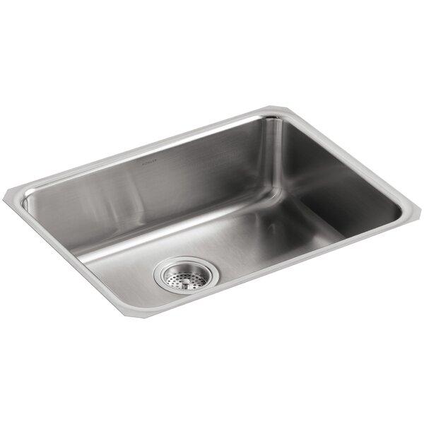 Undertone 23 L x 17-1/2 W x 7-5/8 Extra-Large Squared Under-Mount Single-Bowl Kitchen Sink by Kohler