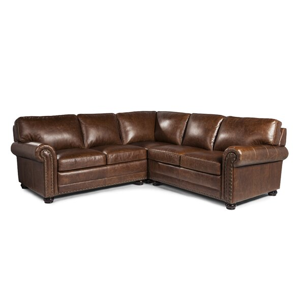 Jameown Leather Modular Sectional by Darby Home Co