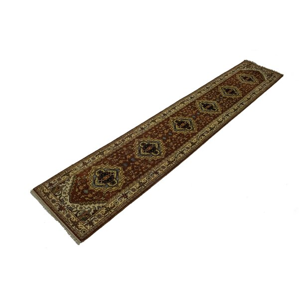 Hester Street Hand Knotted Wool Brick Red Rug