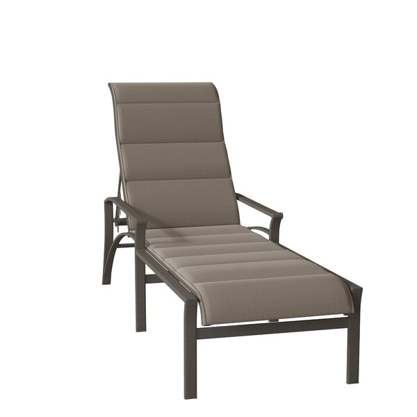 Corsica Padded Sling Reclining Chaise Lounge by Tropitone