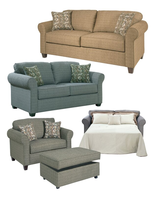 Serta Upholstery Thurlow Convertible Chair And A Half