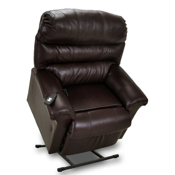 Chase Leather Power Lift Assist Recliner by Frankl