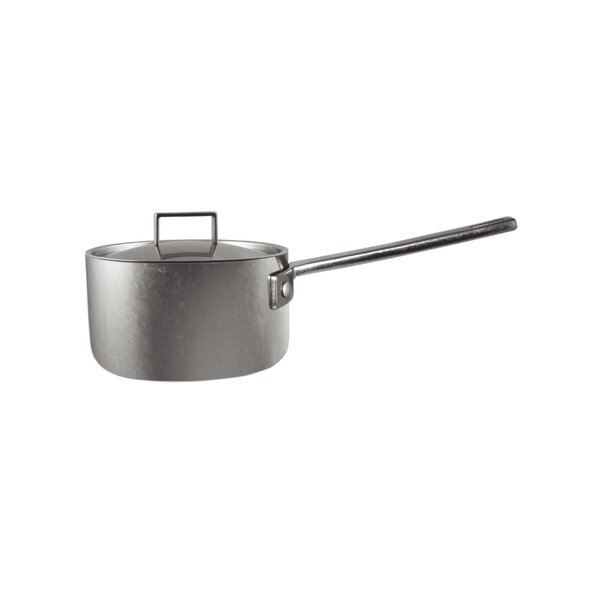 Attiva Casserole Pewter Stock Pot with Lid by MEPRA