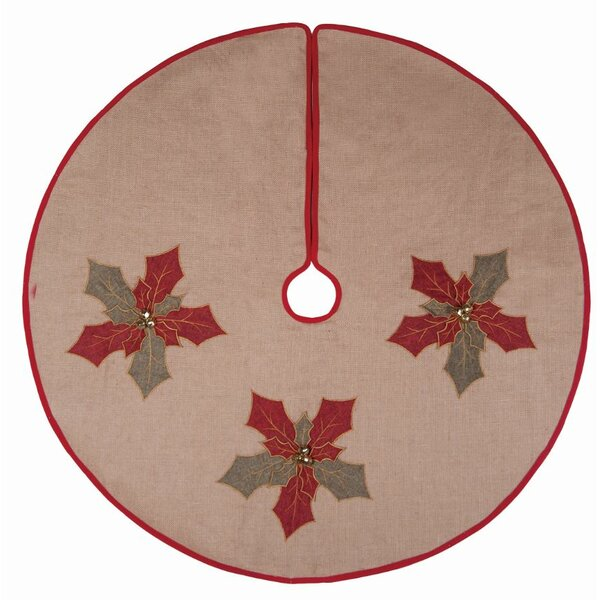 Burlap Holly Tree Skirt by The Holiday Aisle