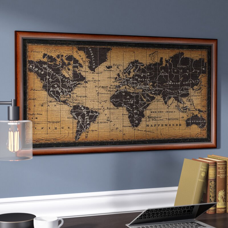 Darby home co old world map framed graphic art reviews wayfair old world map framed graphic art gumiabroncs Gallery