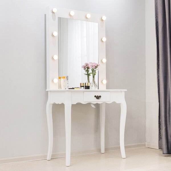 Hannan Vanity Set with Mirror by House of Hampton