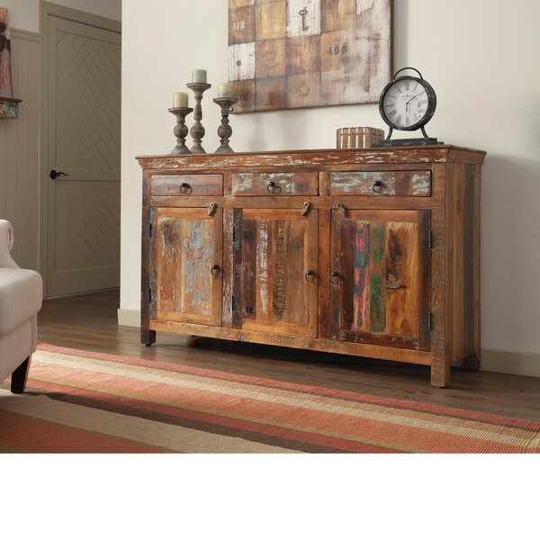 Whitehall Street Well-Made Wooden 3 Door Accent Cabinet by Loon Peak