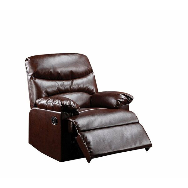 Goudeau Contemporary Cracked Manual Recliner by Red Barrel Studio
