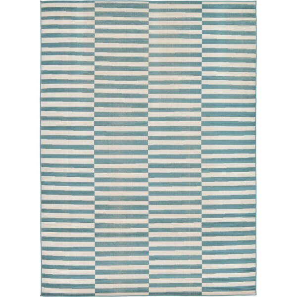 Braxton Teal Area Rug by Mercury Row