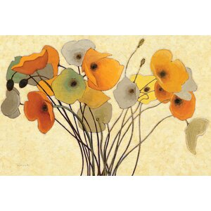 Pumpkin Poppies I Painting Print on Wrapped Canvas by Alcott Hill
