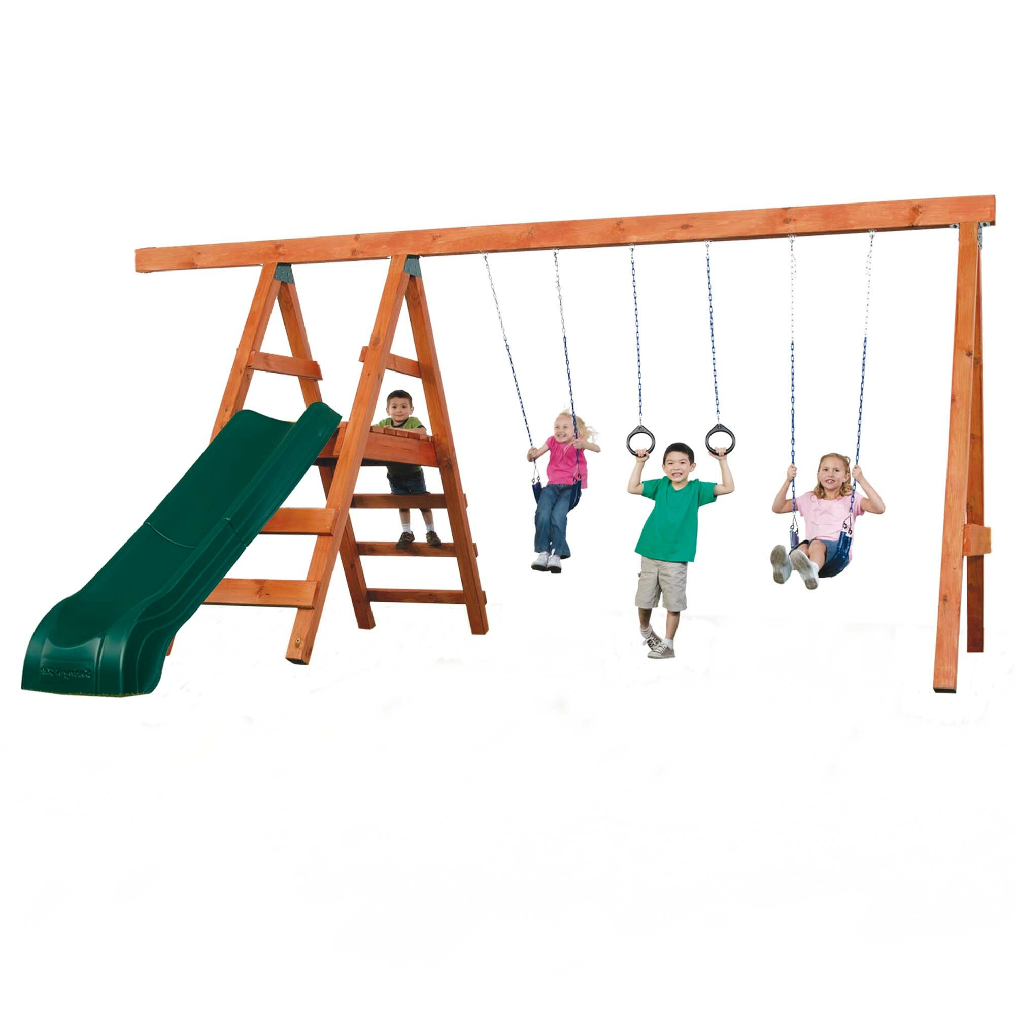 Swing N Slide Diy Pioneer Deluxe Swing Set Hardware Wood Not