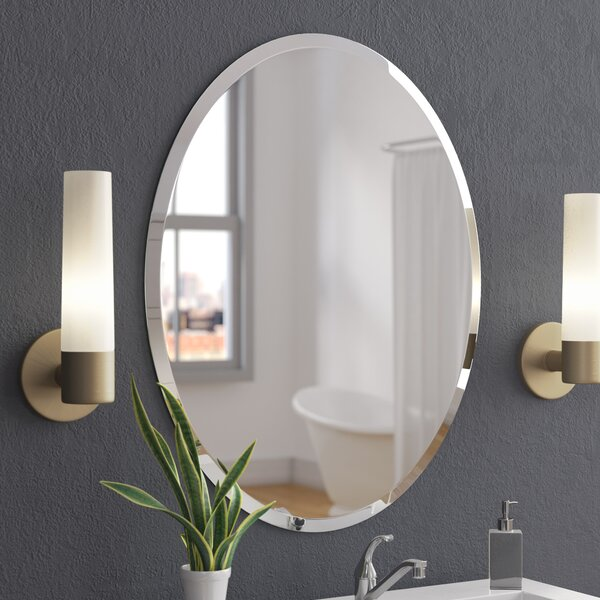 Callison Oval Bevel Frameless Wall Mirror by Wade Logan