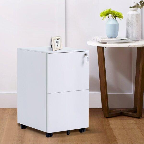 2-Drawer Mobile Vertical Filing Cabinet