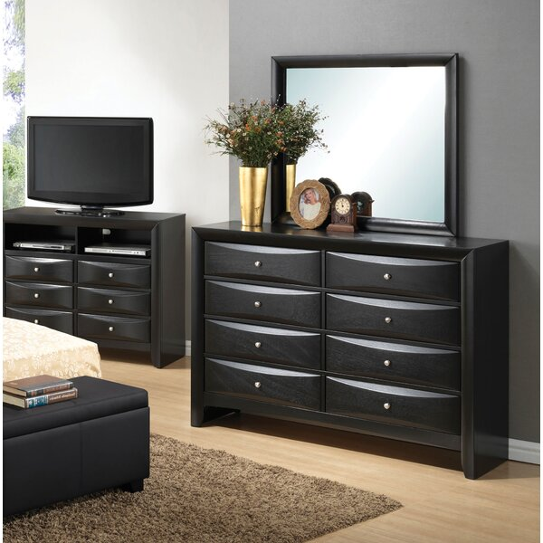 Towslee 8 Drawer Double Dresser with Mirror by Winston Porter