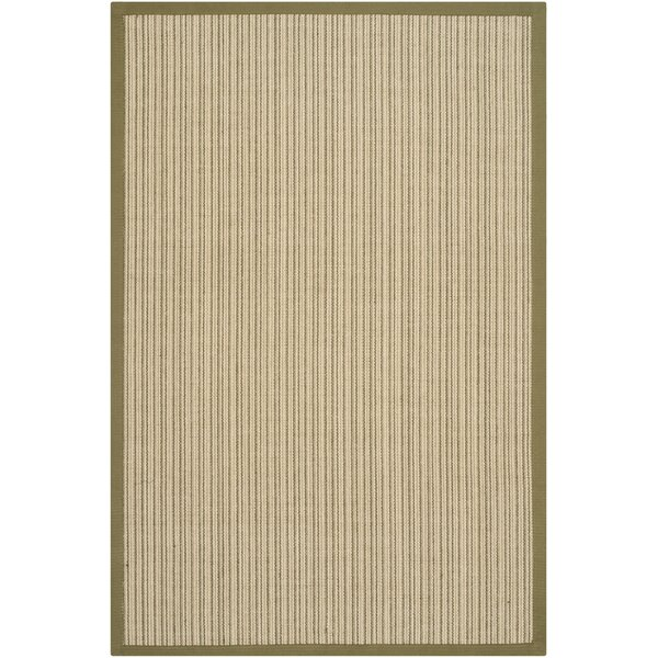 Richmond Hand-Woven Green Area Rug by Beachcrest Home