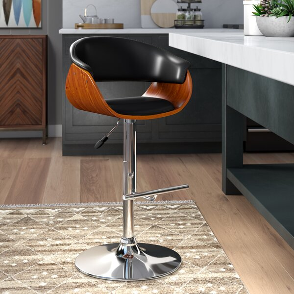 March Adjustable Height Swivel Bar Stool by Corrigan Studio