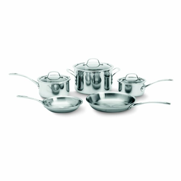 Tri-Ply Stainless Steel 8 Piece Cookware Set by Calphalon