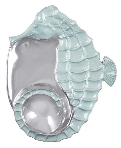 Seaside Seahorse Divided Serving Dish by Mariposa