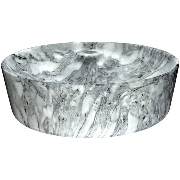 Marbled Series Vitreous China Circular Vessel Bathroom Sink by ANZZI