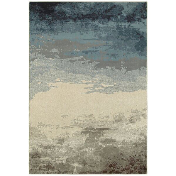 Celine Nights Abstract Blue/Beige Area Rug by Trent Austin Design