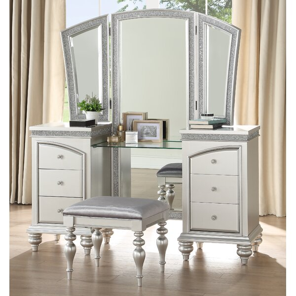 Fuson Vanity Set with Mirror by House of Hampton