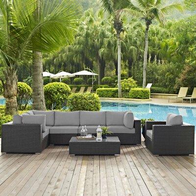Brayden Studio Sunbrella Sectional Set Cushions Cushion Color Seating Groups