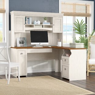 Oakridge L Shaped Executive Desk With Hutch