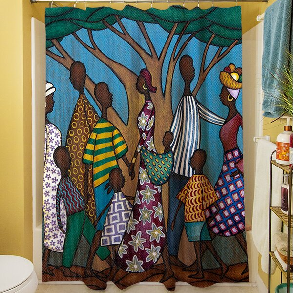 Family Tree Shower Curtain by Manual Woodworkers & Weavers
