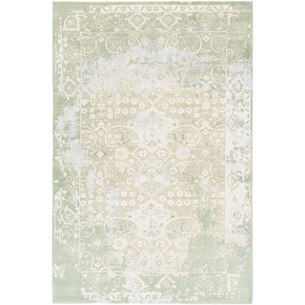 Rodericks Hand-Knotted Green Area Rug by Bungalow Rose