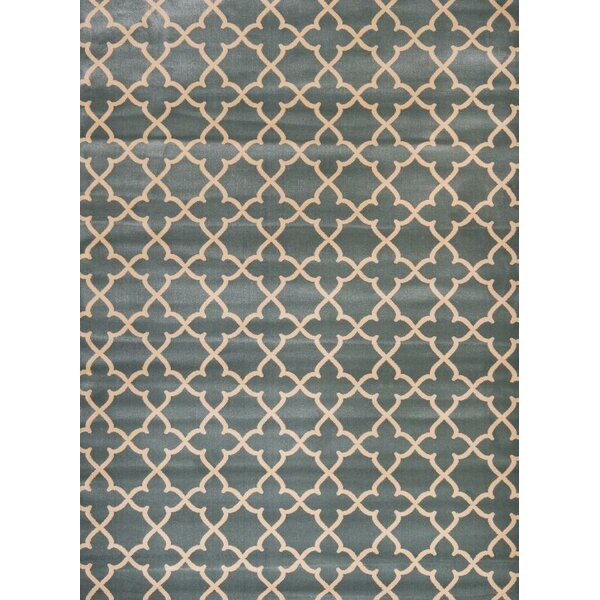 Spaulding Blue/Beige Indoor/Outdoor Area Rug by Andover Mills