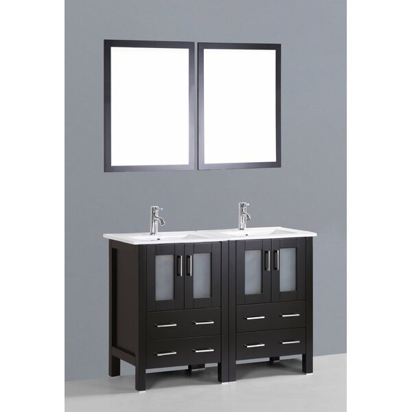 Netto 49 Double Bathroom Vanity Set with Mirror by Ebern Designs