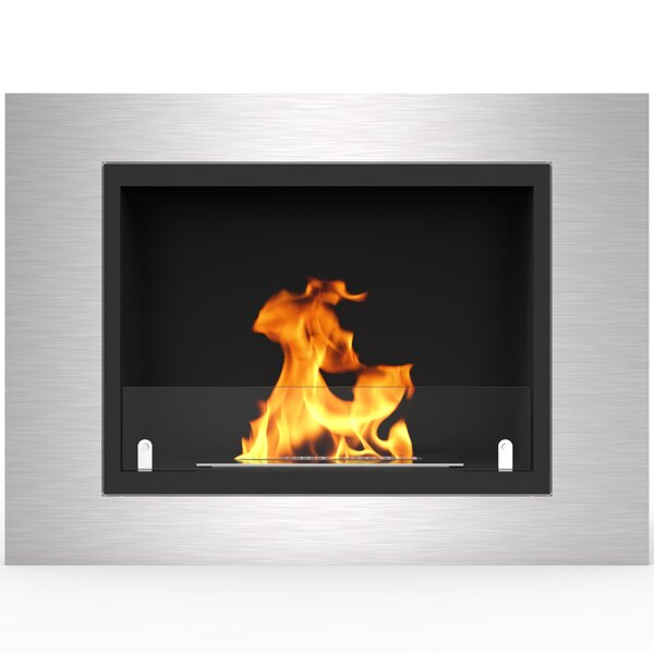 Loyd Ventless Recessed Wall Mounted Bio-Ethanol Fireplace By Orren Ellis