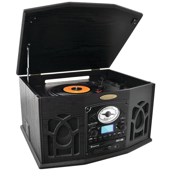 Bluetooth Retro Vintage Classic Style Turntable Vinyl Record Players with Vinyl to MP3 Recording by Pyle
