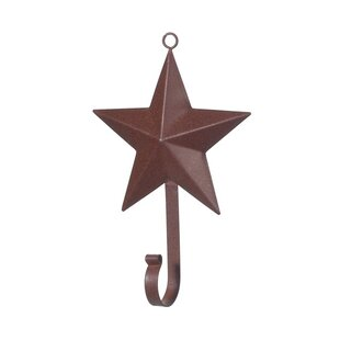 3 D Rustic Star Wall Décor With Hook Set Of 6