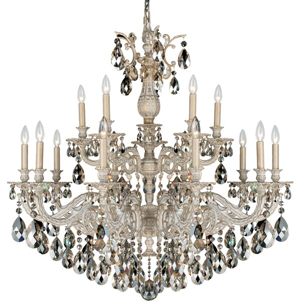 Milano 15 - Light Candle Style Tiered Chandelier By Schonbek