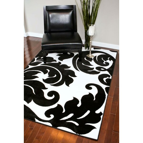 Alanson Black/White Indoor/Outdoor Area Rug by Winston Porter