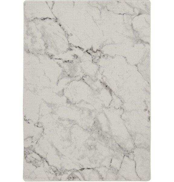 Broom Carrara Cream Beige Area Rug by Wrought Studio
