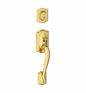 Camelot Exterior Inactive Handleset Grip with Exterior Inactive Deadbolt by Schlage