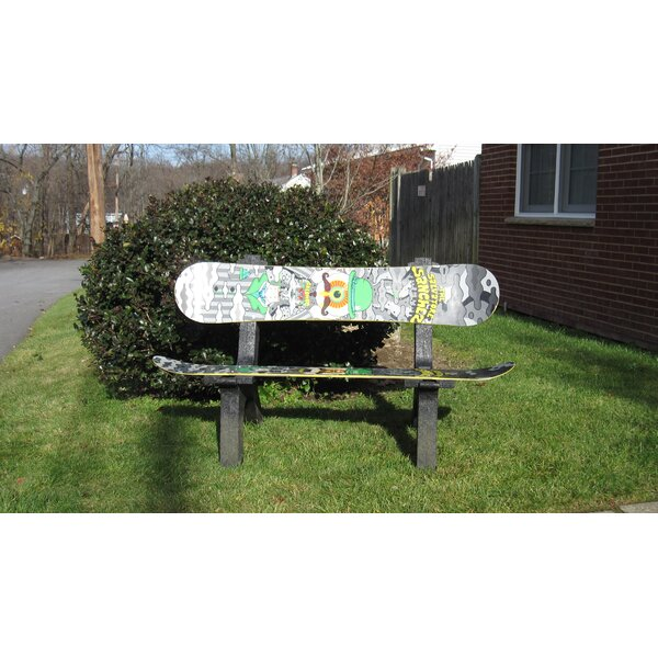 Snow Board Recycled Plastic Garden Bench by Ski Chair