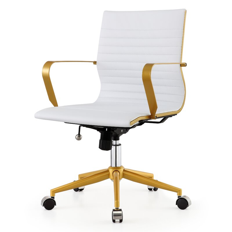 Mid-Back Vegan Leather Office Chair